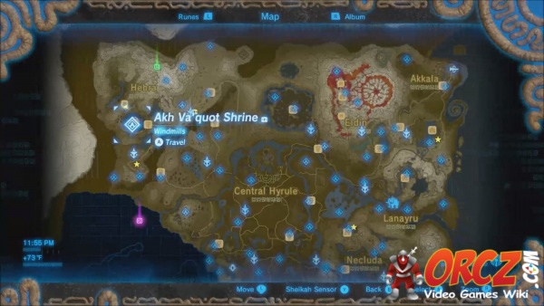 Breath Of The Wild Akh Va Quot Shrine Orcz Com The Video Games Wiki If you go up the stairs near where you entered the room, you will either see a crystal beyond a grate, or a treasure chest behind to reach akh va'quot and get the spirit orb, you need to make all the windmills spin. wild akh va quot shrine orcz