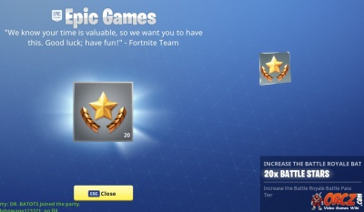 fortnite battle royale  battle stars orczcom