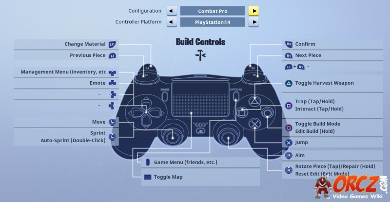 fortnite battle royale ps controller layout orczcom