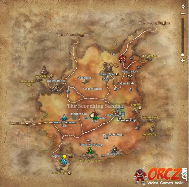 Blade And Soul Map Blade and Soul: The Scorching Sands   Map   Orcz.com, The Video  Blade And Soul Map
